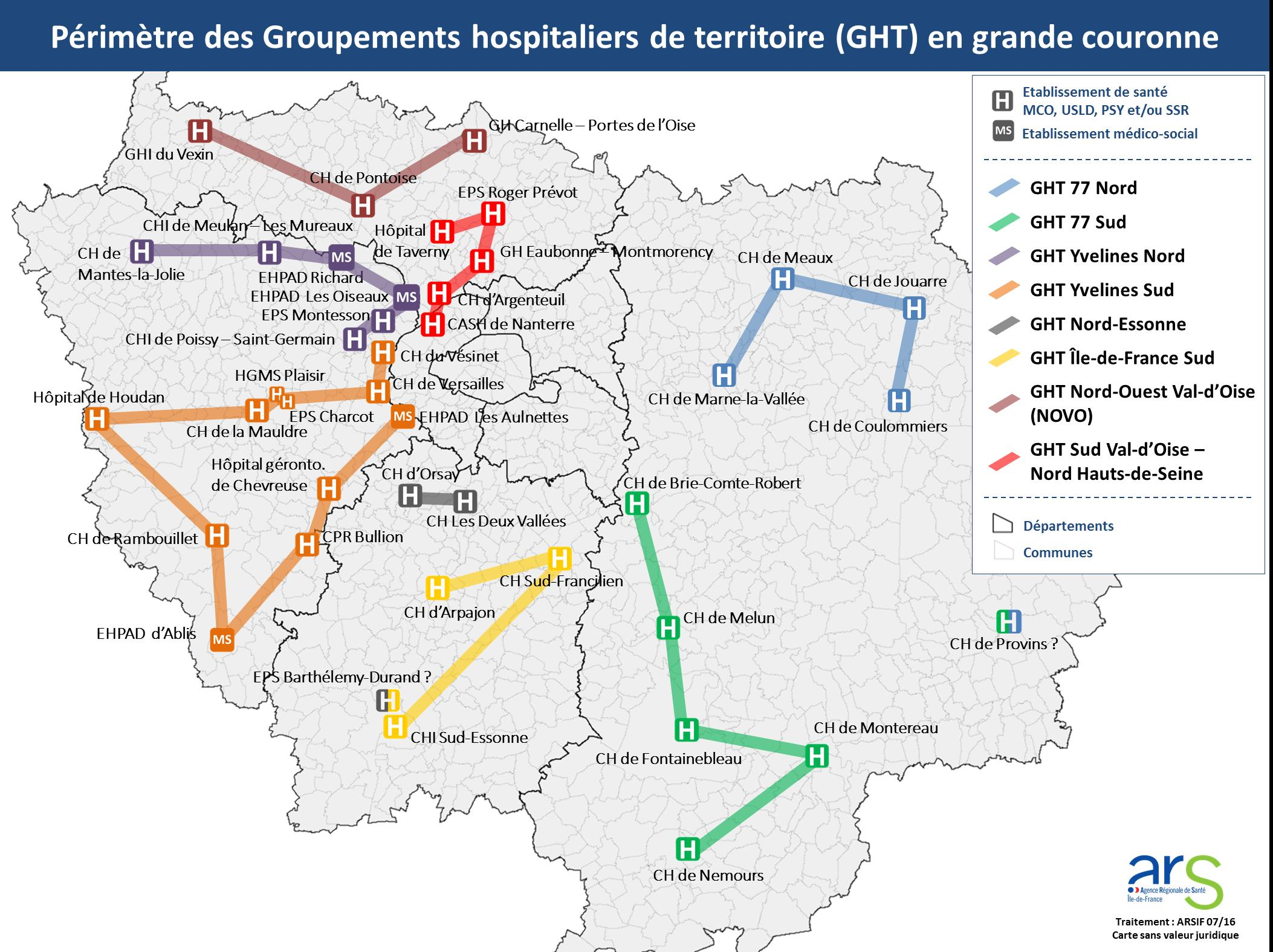 Carte GHT grande couronne