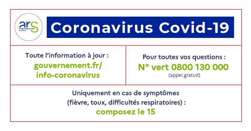 1. le site gouvernement.fr, 2. le N°vert 3. le15 en cas de symptômes